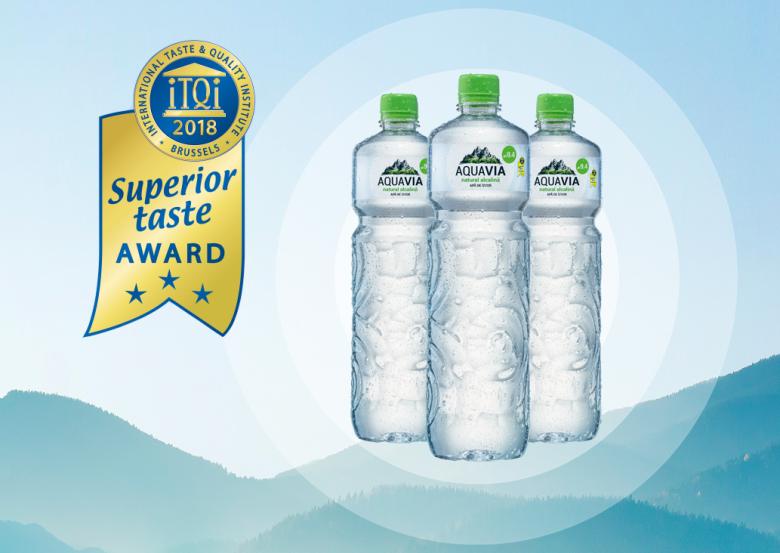 AquaVia získala cenu za chuť Superior Taste Award!